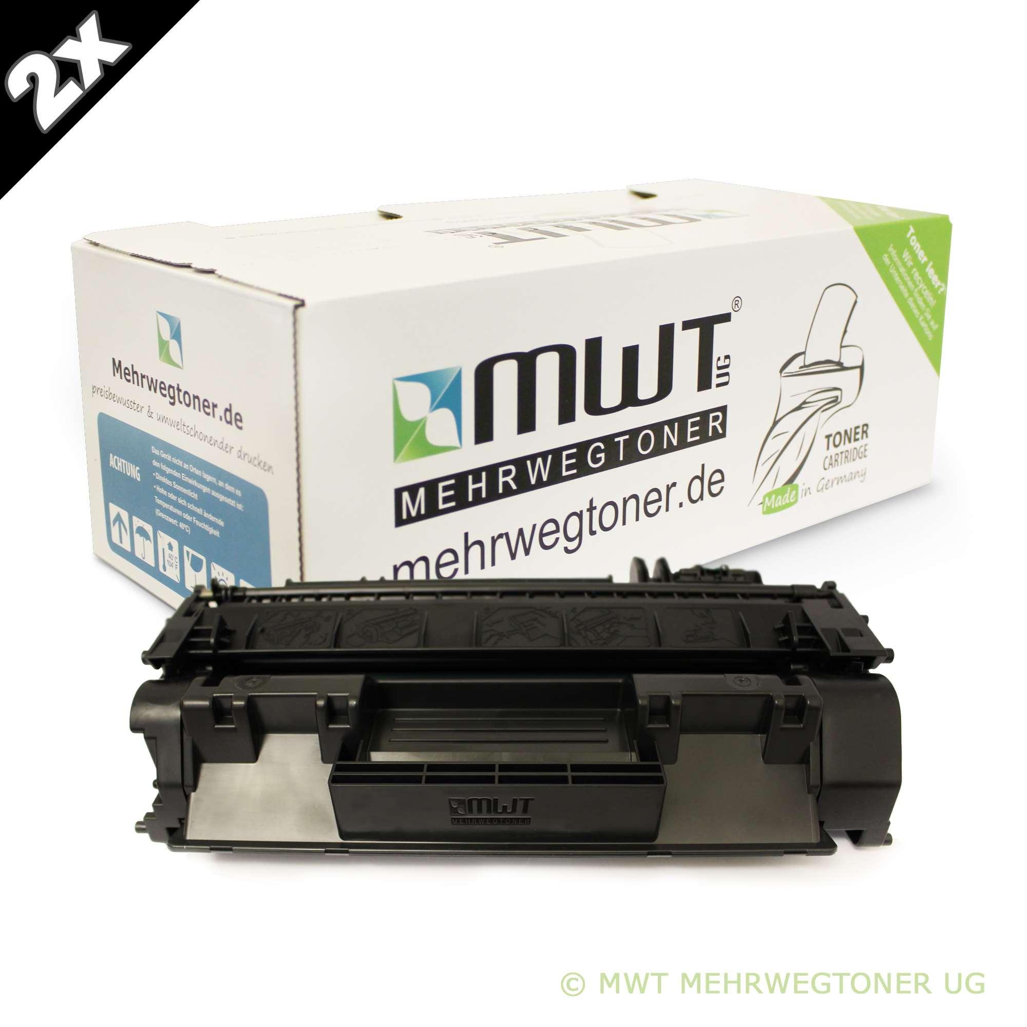 2x MWT ECO Toner XXL für HP LaserJet M-2727-NFS M-2727-NF P-2011-n P-2012-N