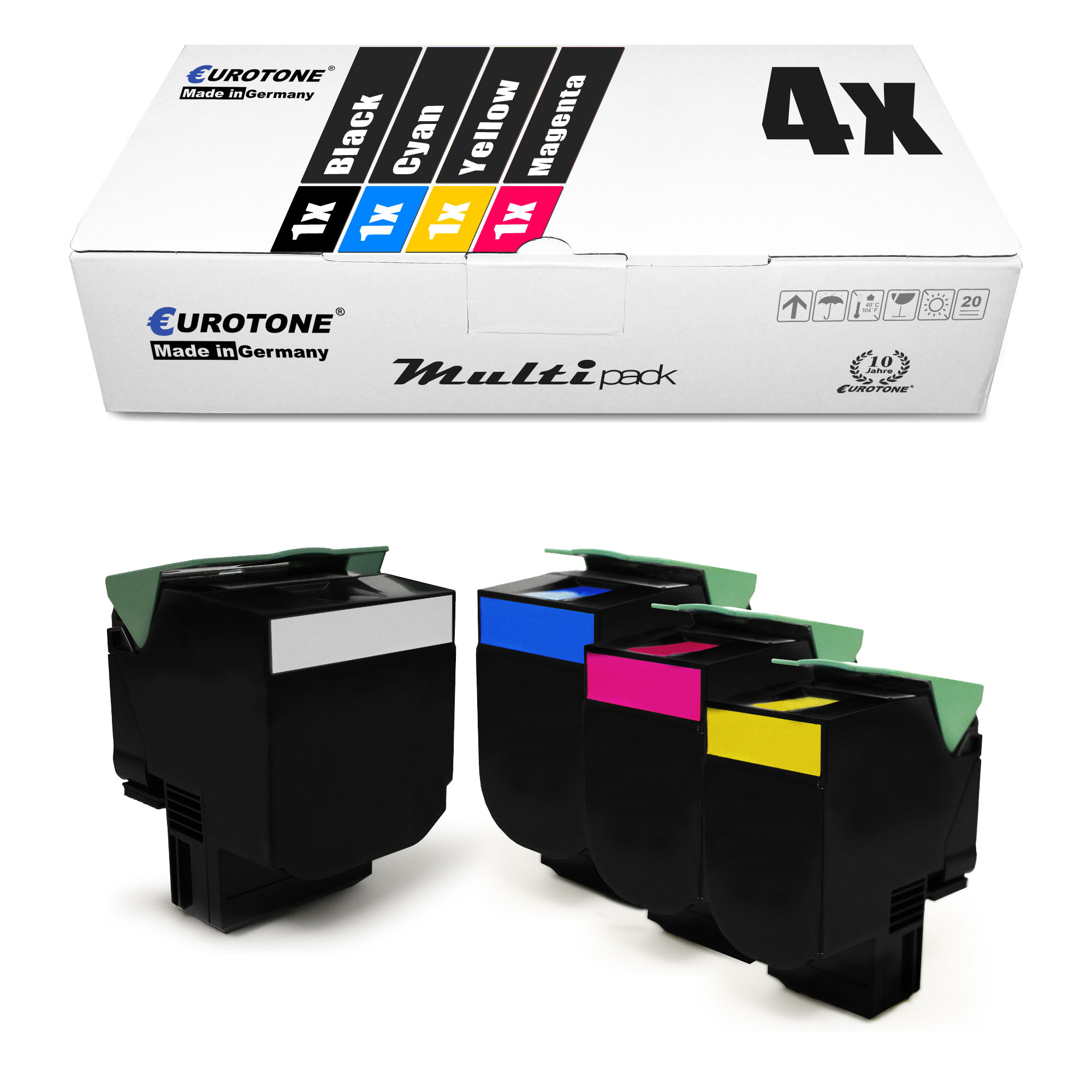 4x-Eco-Toner-XXL-Pour-LEXMARK-cs-510-dte-cs-410-dn-cs-310-dn-cs-310-n-cs-410-dtn