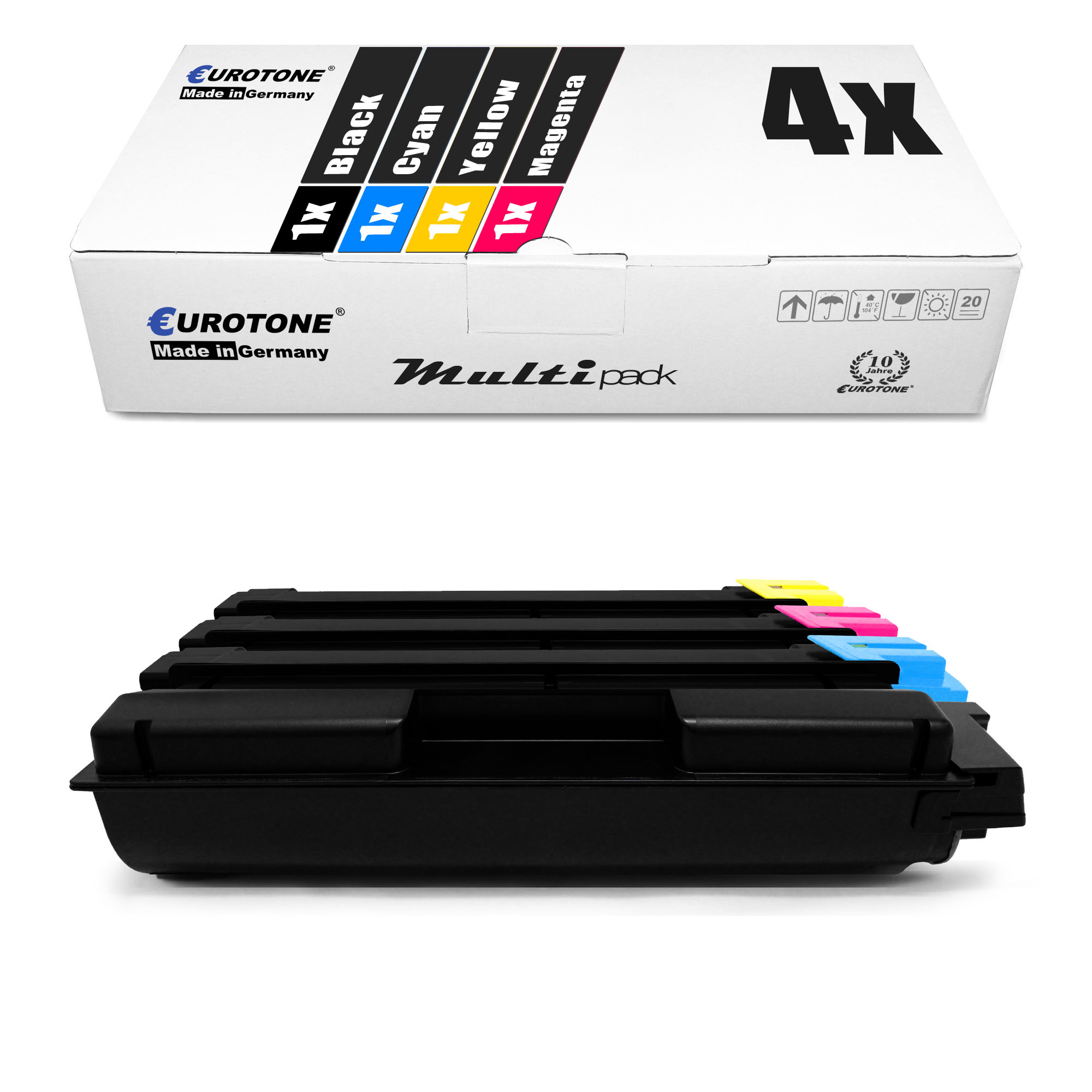 4x-eurotone-Pro-Cartouche-remplace-Kyocera-TK-5140-C-TK-5140-K-TK-5140-M-TK-5140-Y miniature 2