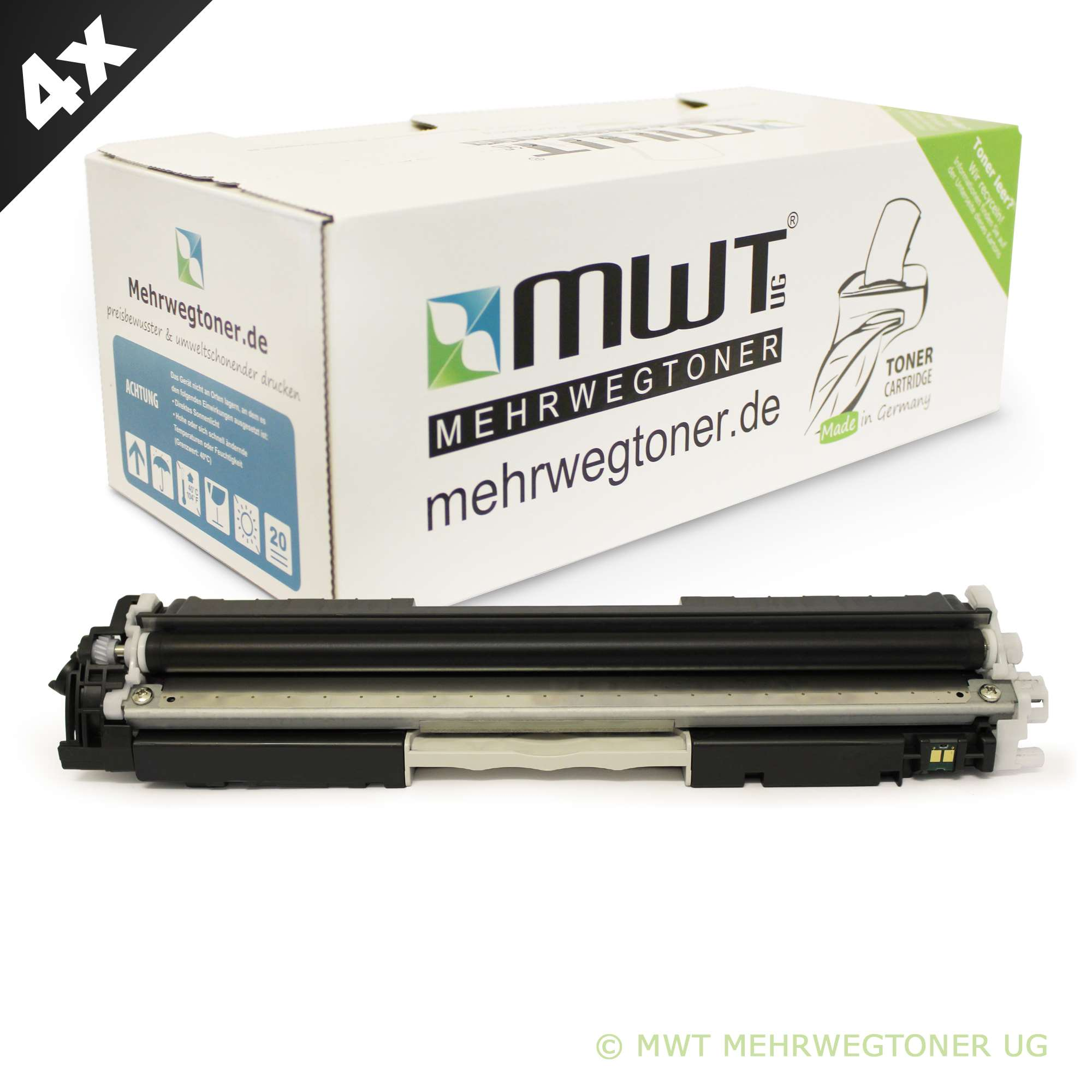 4x MWT Toner für HP Color LaserJet Pro CP-1023 CP-1027 100 MFP M-175-a M-275-nw