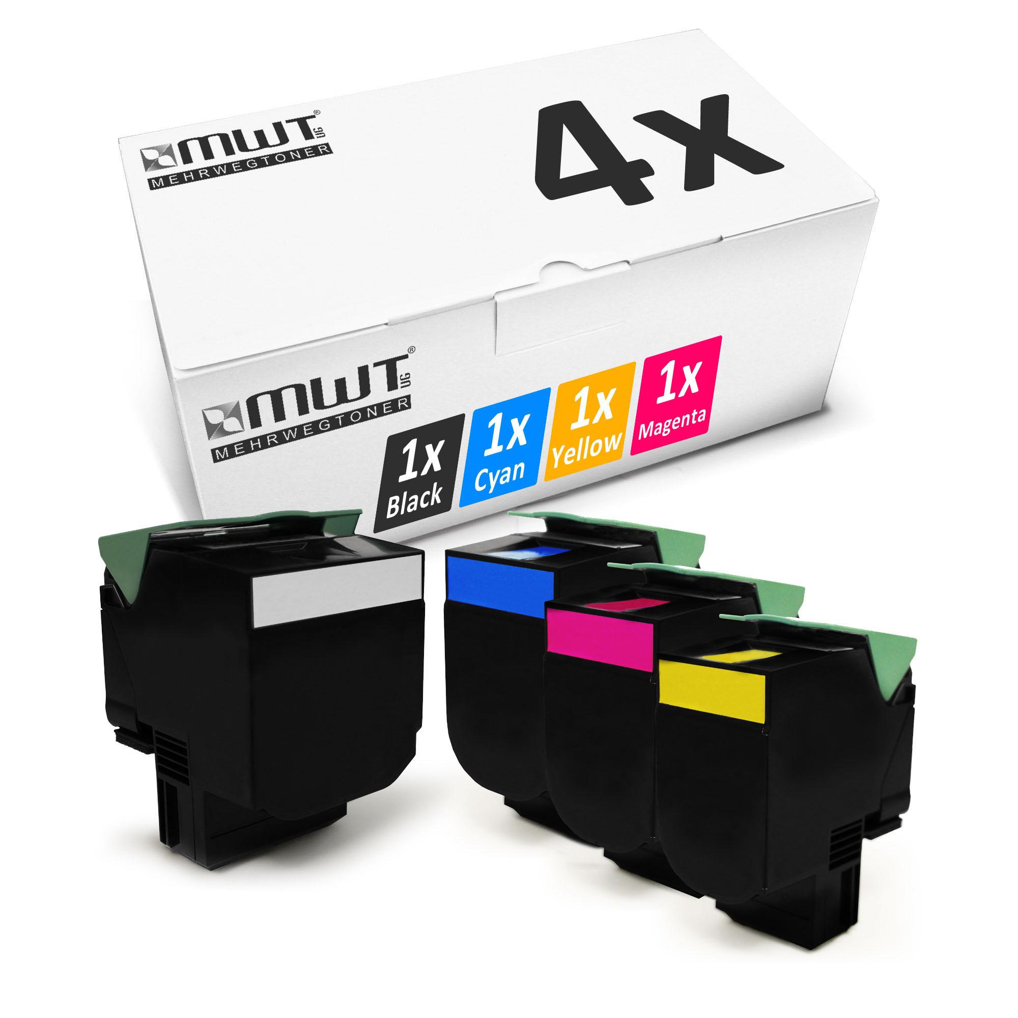 4x-Toner-XXL-Pour-LEXMARK-cs-310-dn-cs-410-dn-cs-410-n-cs-510-dte-cs-410-dtn